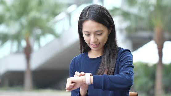 Thumbnail for Woman use of smart watch