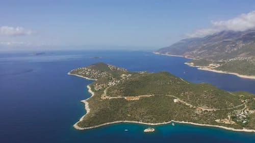 Aerial View on Peninsula of Kas Town in Fethiye District Turkey