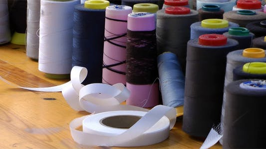 Thumbnail for Scissors Ribbons and Fabric Rolls in the Tailor