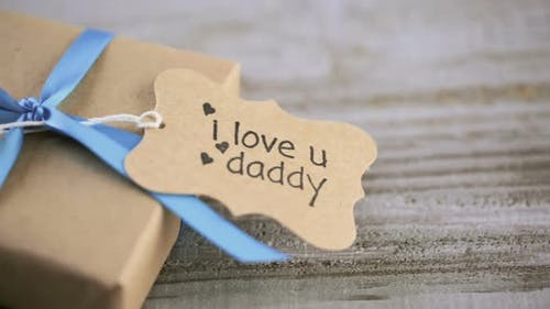 Wrapped in brown paper gift for Father's Day