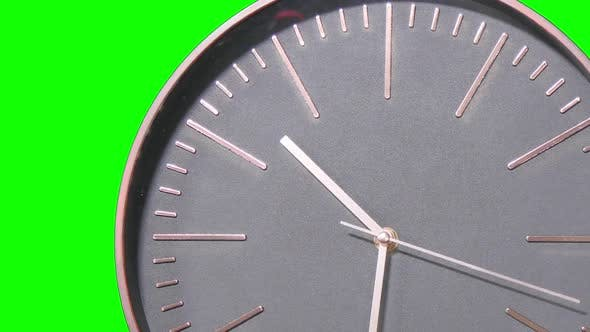 Thumbnail for Modern Clock Face Fast Moving Forward