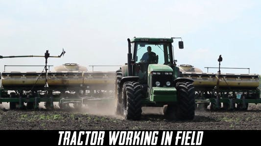 Thumbnail for Tractor Working In Field