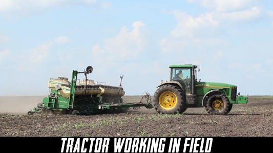 Cover Image for Tractor Working In Field 4