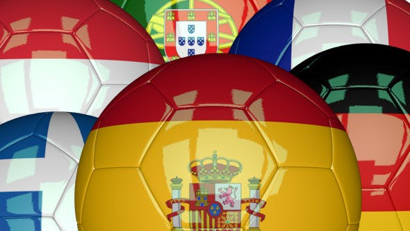 Thumbnail for 3D Soccer Ball - EU Flags Pack 1