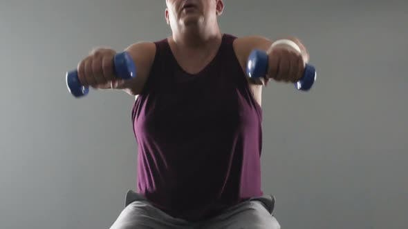 Thumbnail for Sportsman Repeating Exercises with Instructor, Online Weightloss Workout at Home