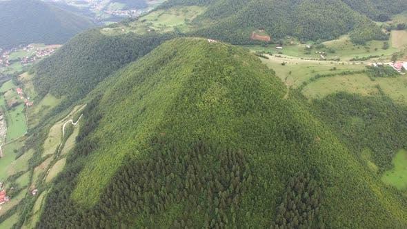 Thumbnail for Panoramic view of ancient pyramids in Visoko, Bosnia