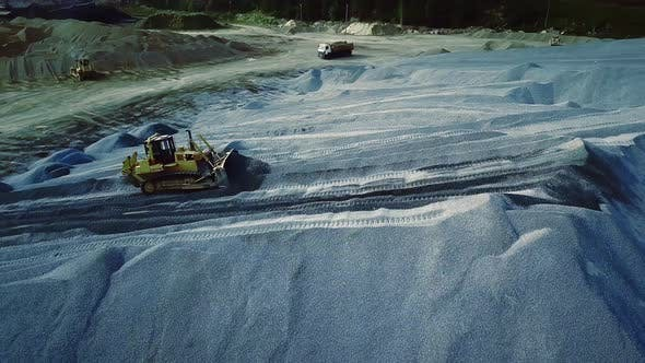 Thumbnail for Working excavator in sand career