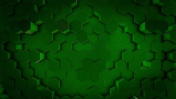Thumbnail for Green geometrical figures stacked in rows