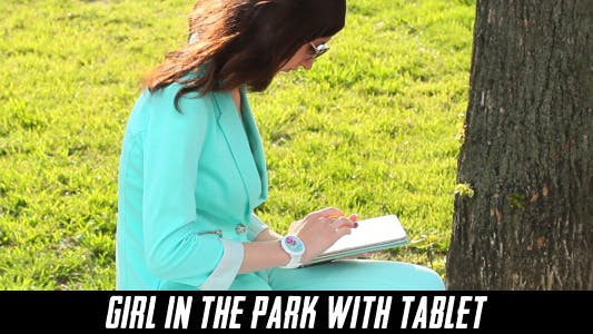 Thumbnail for Girl In The Park With Tablet 6
