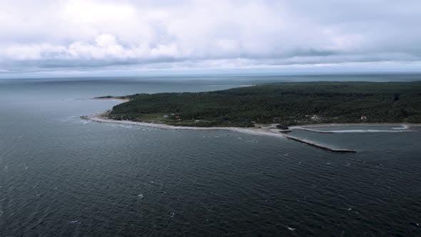 Cloudy Landscape Of Hiiumaa Island In Baltic Sea