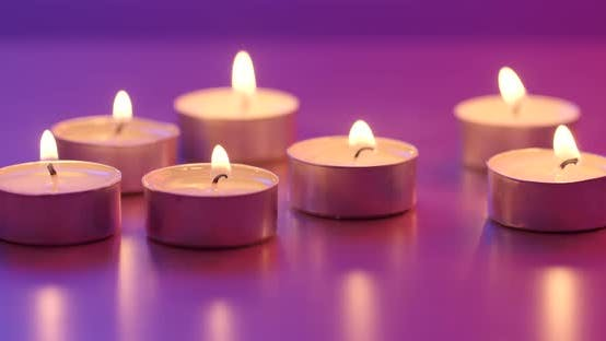Thumbnail for Many Small Flaming Candles
