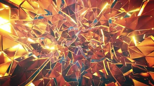 Thumbnail for Golden Debris Neutral Vj Background 4k