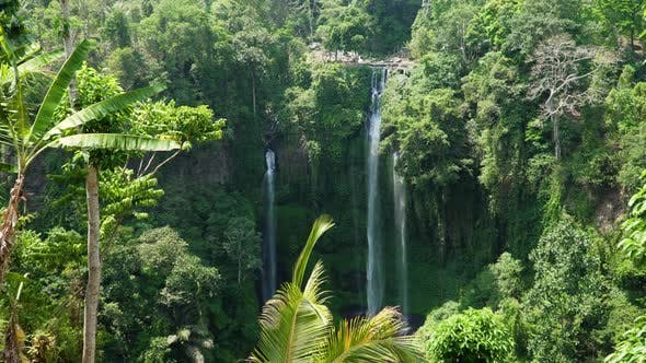Thumbnail for Beautiful Tropical Waterfall Bali,Indonesia.