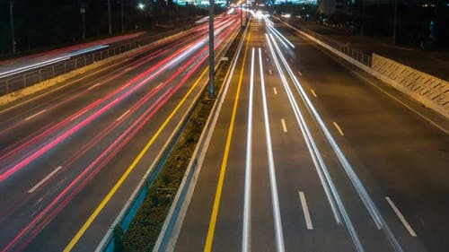 Street Night Light Of Car
