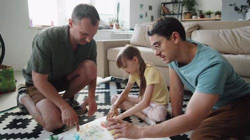 LGBTQ Family Fingerpainting