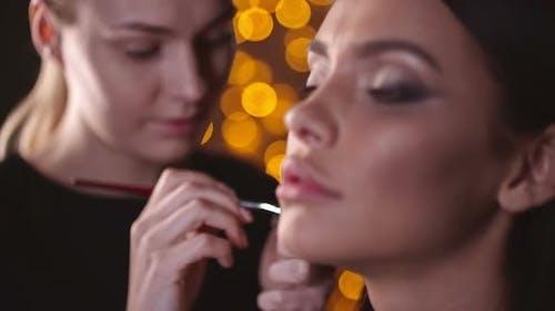 Makeup Artist Doing Fabulous Makeup