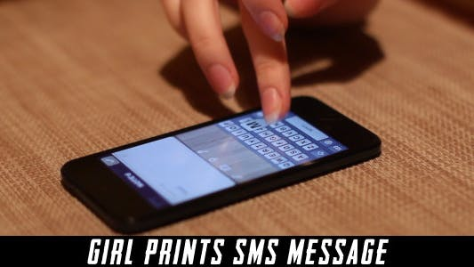 Thumbnail for Girl Prints Sms Message 2