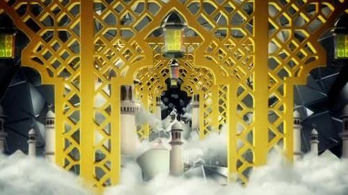 Golden Islamic Gate