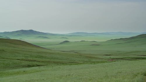 Plain in Treeless Wide Valley