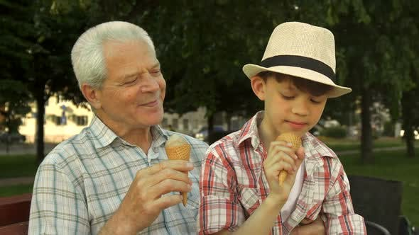 Thumbnail for Little Boy Shows His Thumb Up Near His Grandpa