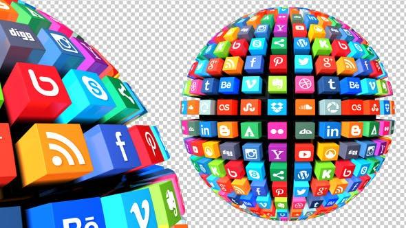 Thumbnail for Social Media Globe Pack Looped (Pack of 3)