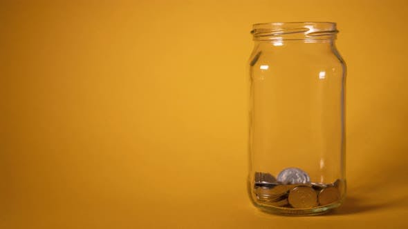 Thumbnail for Money Coin in Glass Bottle Growing Money
