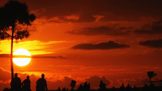 Thumbnail for Sunset and People Silhouette