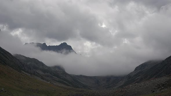 Thumbnail for Depressing Gloomy Dark Rocky Mountain Peak