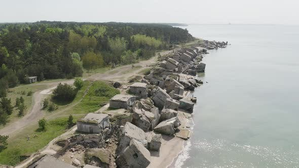 Thumbnail for Ruins of Sea Fortress, Coastal Defense Battery WW1