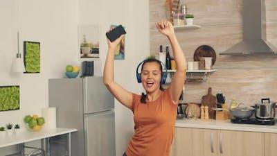 Carefree Woman Dancing