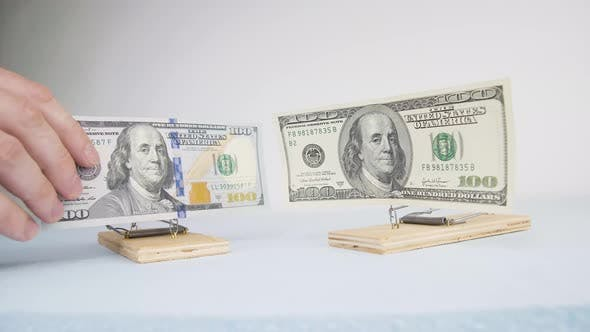 The money trap is associated with loans, mortgages, installments, or debt