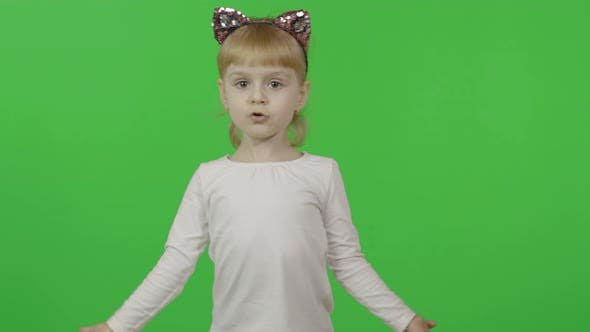 Thumbnail for Girl in Headband with a Cat Ears Dancing