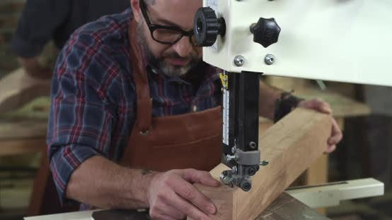 Thumbnail for Mature Cabinet Maker Creates a Cabrioli Leg Using Bandsaw