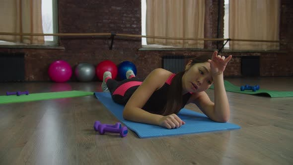 Thumbnail for Exhausted Fit Female Tired of Fitness Workout