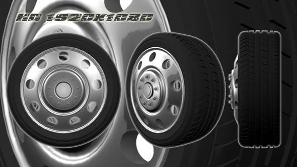 3D Animated Truck Wheel