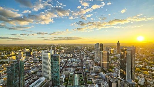 Thumbnail for Sunset Above Modern Skyline