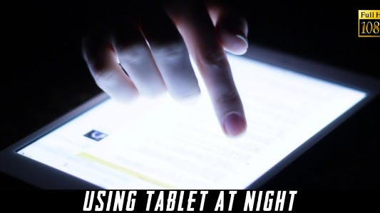 Cover Image for Using Tablet At Night 2