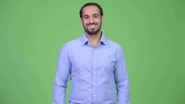 Thumbnail for Young Happy Bearded Indian Businessman Smiling