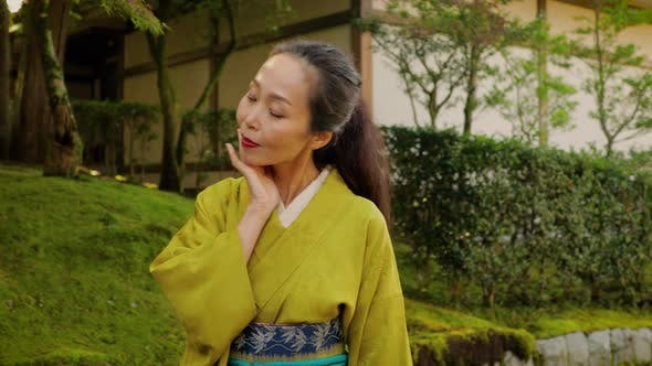 Thumbnail for Elegant Japanese woman in Kyoto Japan