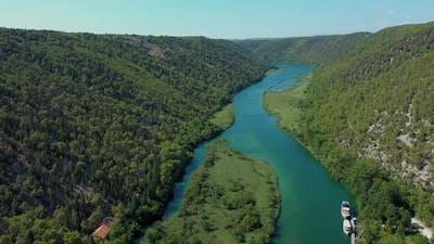 Aerial drone view Croatia