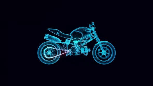 Bike Hologram Rotating 4k