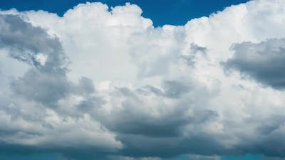 White, swirling clouds, time-lapse