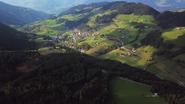 Thumbnail for Small Village in Dolomites San Pietro Di Laion, Italy. Aerial Footage