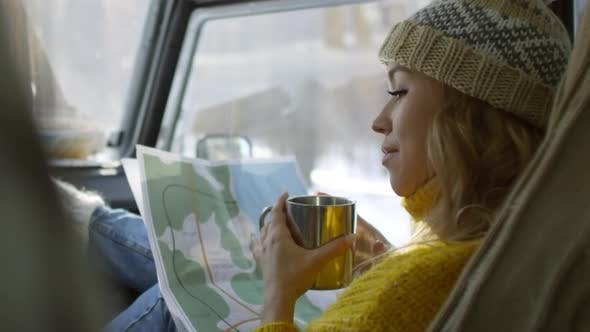 Thumbnail for Young Woman Travelling by Car