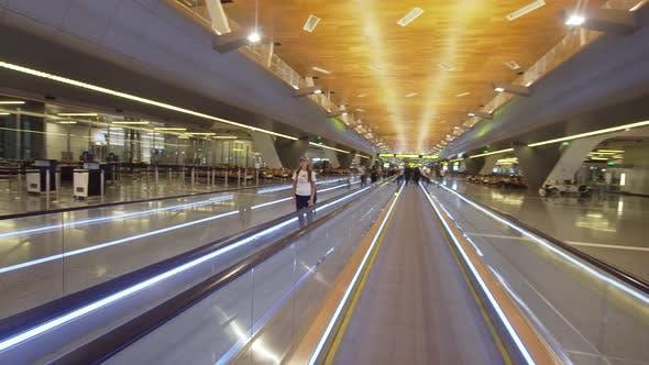 Thumbnail for Girl at the International Airport in Doha, Qatar