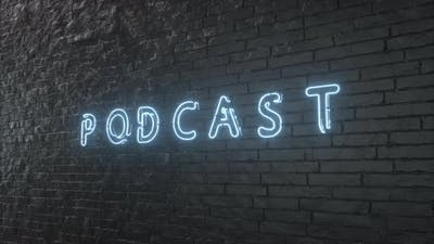 Podcast Neon Sign