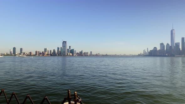 Thumbnail for New York City and Jersey City Downtown Skyline