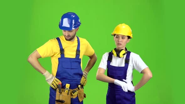 Thumbnail for Two Builders Are Disappointed By the Loss in the Tender. Green Screen