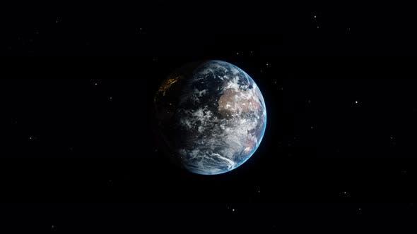 Thumbnail for World Globe Rotating in Dark Black Universe Space