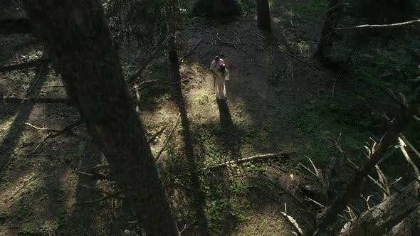 Thumbnail for Couple In Forest Aerial View